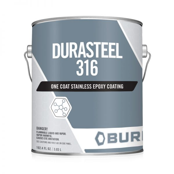 Stainless Steel Gray Water-Based Epoxy Metal Primer Coating Dura-Steel 316™ O.C.