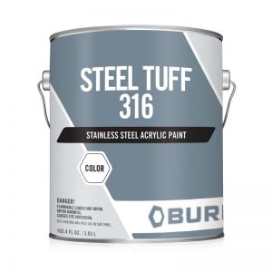 Metallic Gray Liquid Stainless Steel Paint for OEM Component Parts Steel Tuff-316™